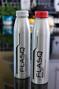 Flasq Merlot and Chardonnay Wine in a Can