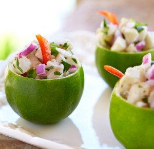 ceviche lime cups