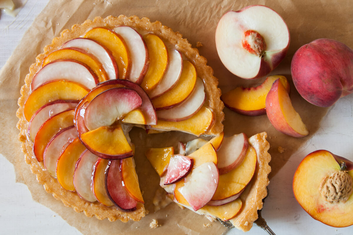 Handcrafted Peach Tart