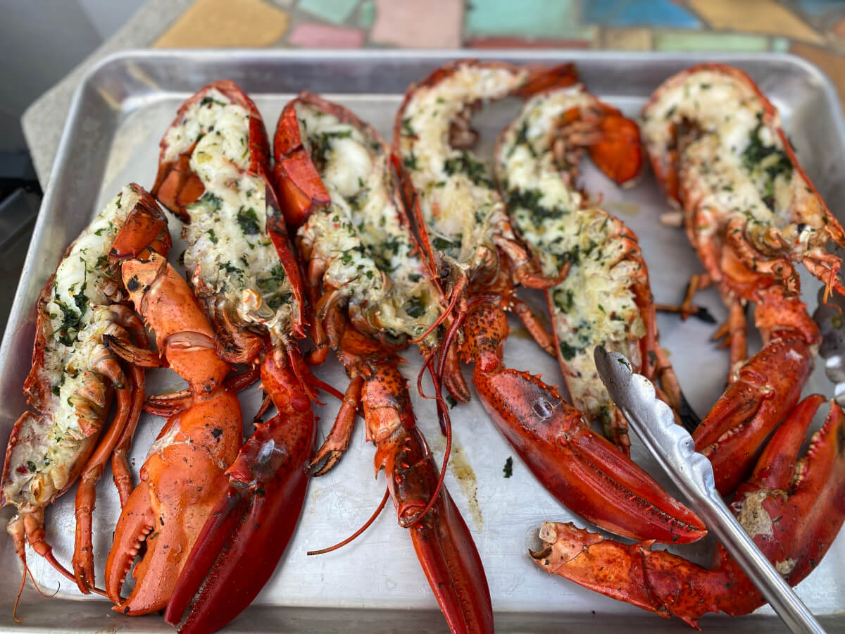 Barbara's Grilled Lobster with Corn on the Cob