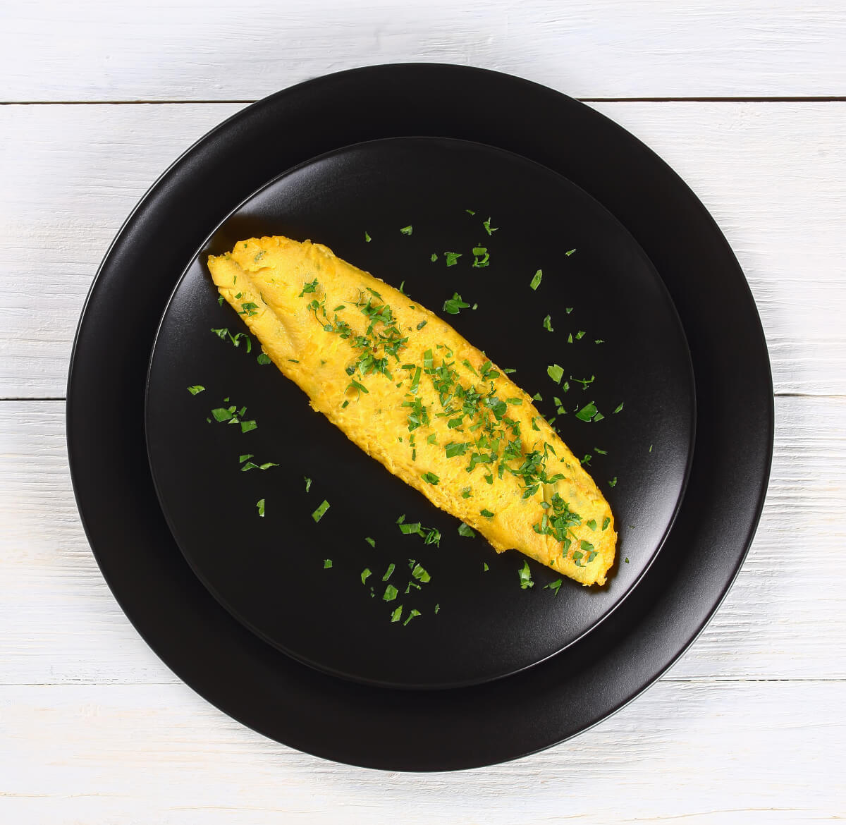 French omelette on a plate